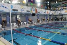 Команда спортсменов по плаванию готовится к соревнованиям