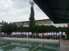 Start of swimming tournament