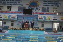 Официальное открытие второго международного соревнования по плаванию в г. Худжанде